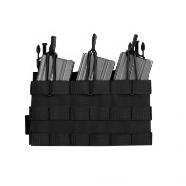 Warrior Removable Triple MOLLE Open Pouch for RPC Black