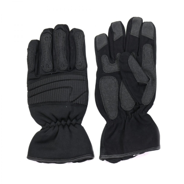 Rescue and extraction gloves with patches reinforced with kevlar yarn and reforced with knucle pads