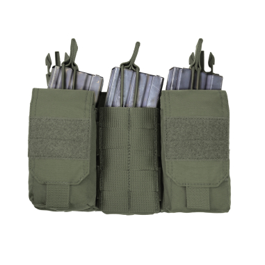 Warrior Detachable Front Panel MK1 (3 x 5.56 Mag Pouches and 2 Utiity Pouches) OD Green