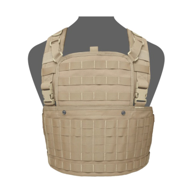Warrior 901 Chest Rig Base With Zip Coyote Tan