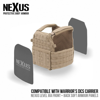 Nexus DCS Level 3a Soft Armour Front and Back