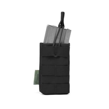 Warrior Single Open 5.56mm Open Mag Pouch Black
