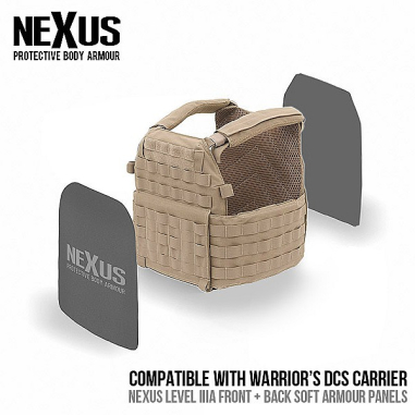 Nexus DCS Level 3a Soft Armour Front and Back (Set of 2)