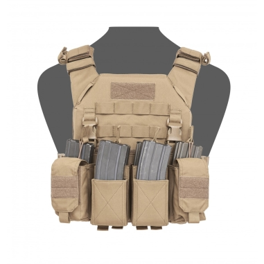 Warrior Recon Plate Carrier With Pathfinder Chest Rig Combo Coyote Tan