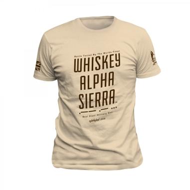 Whiskey Alpha Sierra T-Shirt Tan