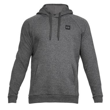 UA Hoodie Rival Fleece P/Over Grey