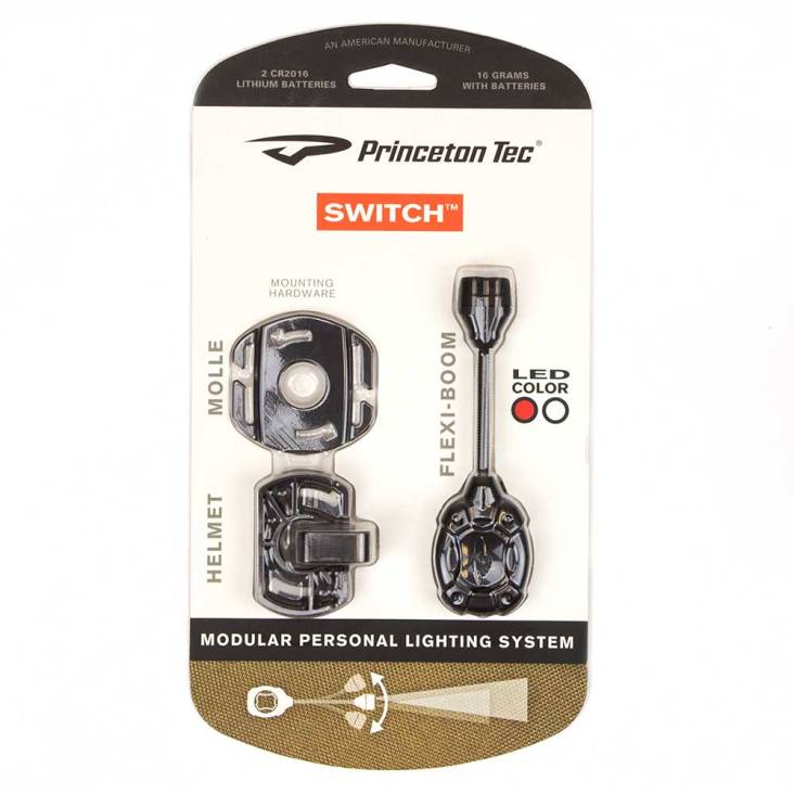 Princeton Tec Switch-MPLS Task Light Black With White and Red High Output LEDs