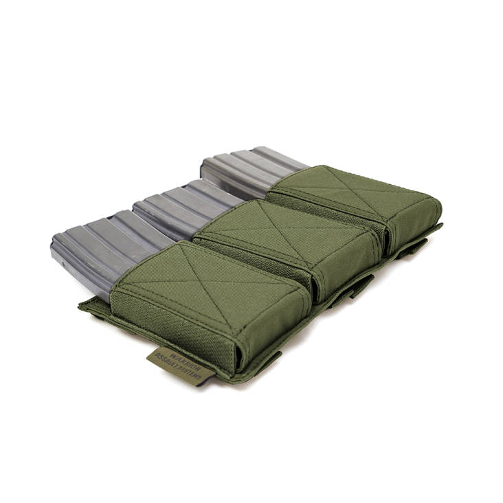 Warrior Triple Elastic Mag Pouch Olive Drab