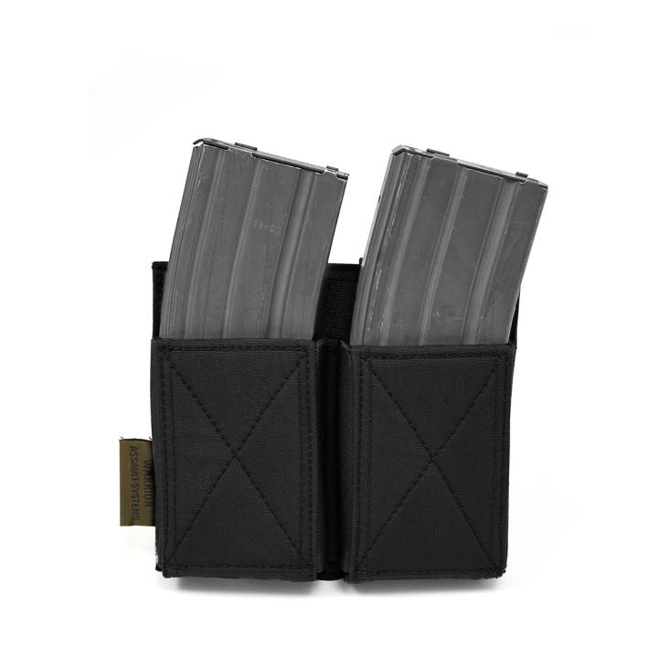 Warrior Double Elastic Mag Pouch Black