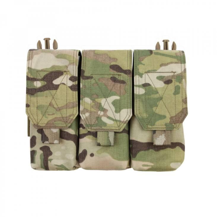 Warrior Detachable Front Panel Triple Covered M4 Pouch Multicam