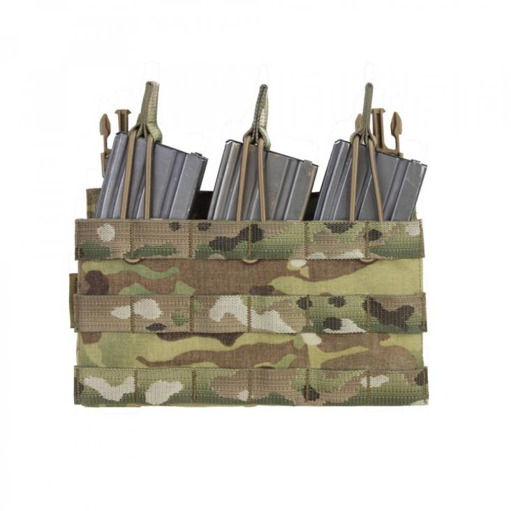 Warrior Removable Triple MOLLE Open Pouch for RPC Multicam