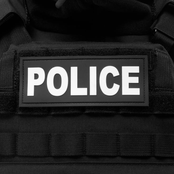 Warrior Elite Ops Rubber Police Patch