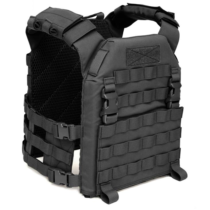 Warrior Recon Plate Carrier with Pathfinder Chest Rig Combo Black