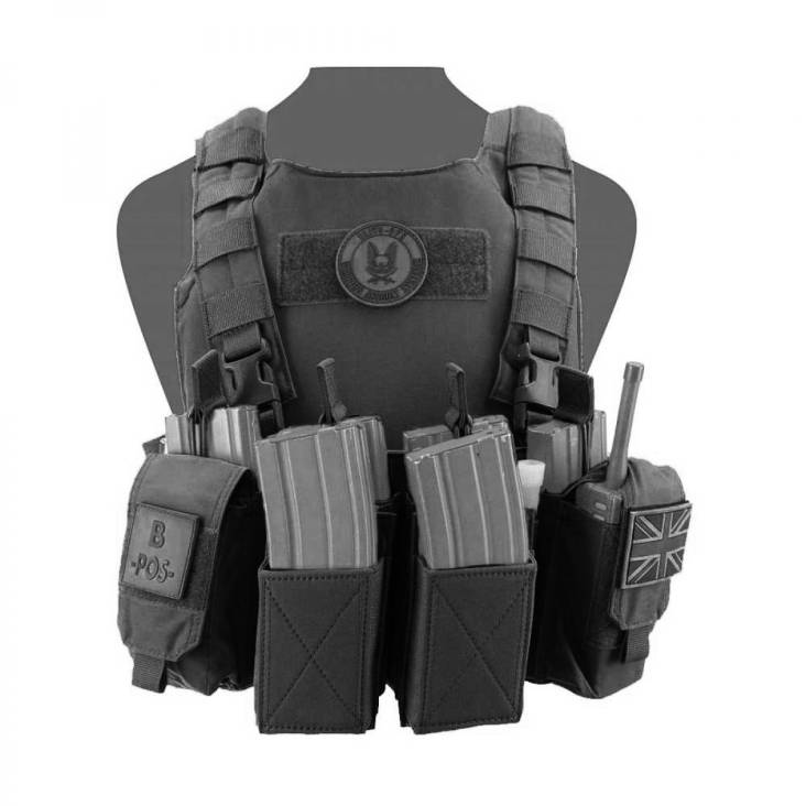 Warrior Covert Plate Carrier - Pathfinder Chest Rig Combo Black