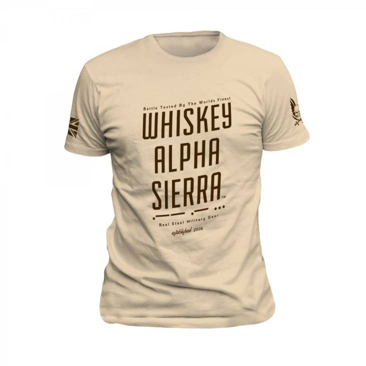 Whiskey Alpha Sierra T-Shirt Tan