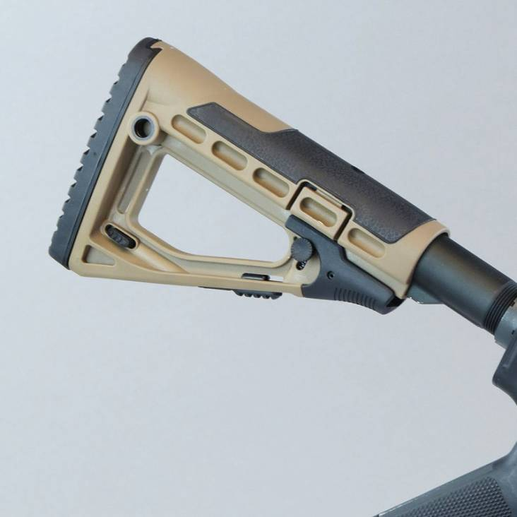 CAA-SBS/03 Skeleton Style Collapsible Telescopic Khaki