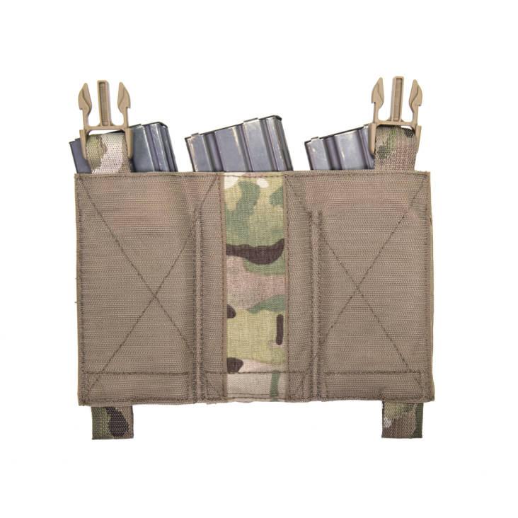 Warrior Removable Triple Elastic Mag Pouch Multicam