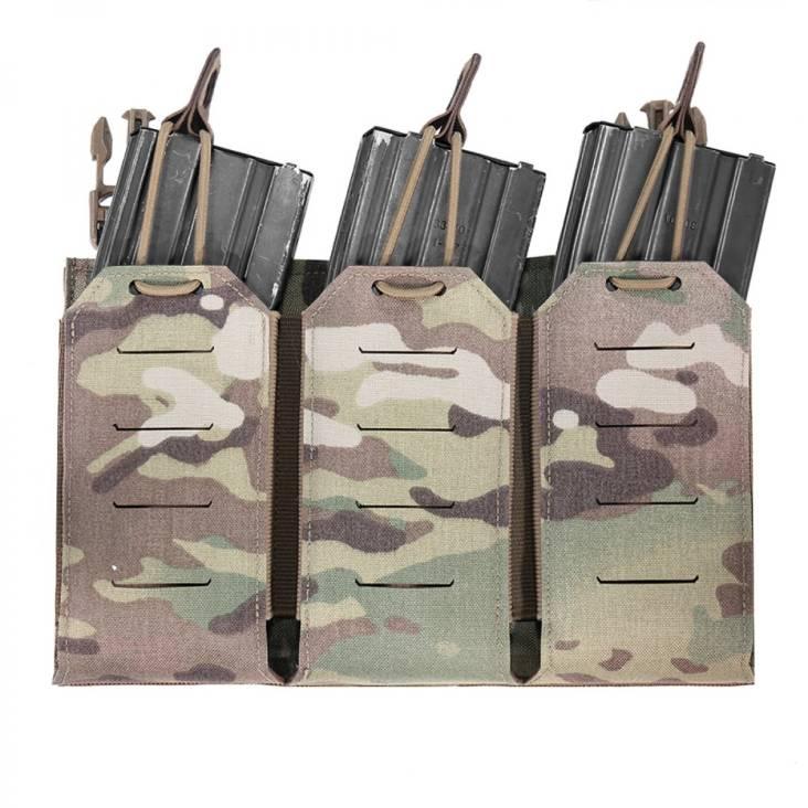 Warrior Laser Cut Triple Bungee 5.56 Panel MultiCam