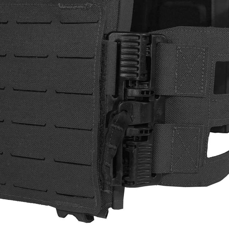 Warrior Laser Cut Low Profile Carrier V2 With ladder Sides Black
