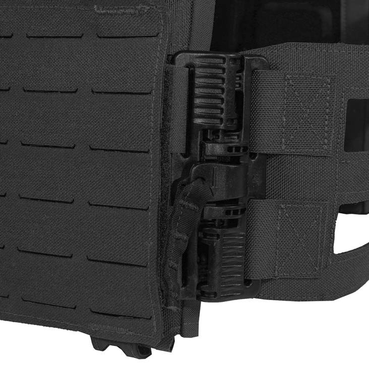Warrior Laser Cut Low Profile Carrier V2 With Triple Bungee 5.56 Black