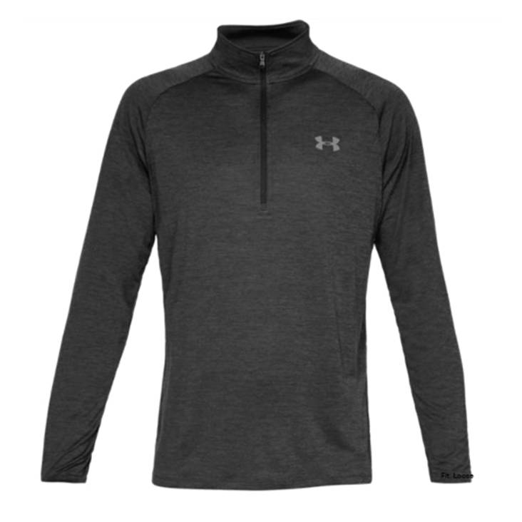 UA Top Tech 2.0 Quarter Zip Black