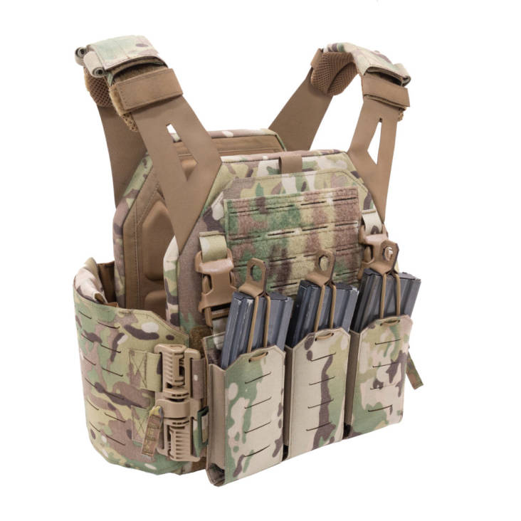 Warrior Laser Cut Low Profile Carrier V1 With Triple Bungee 5.56 Multicam