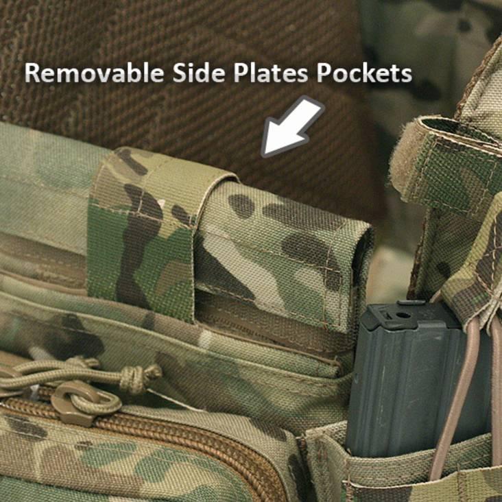 Warrior Side Armour Pouch 1 set of 2 pouches DCS/RICAS MultiCam