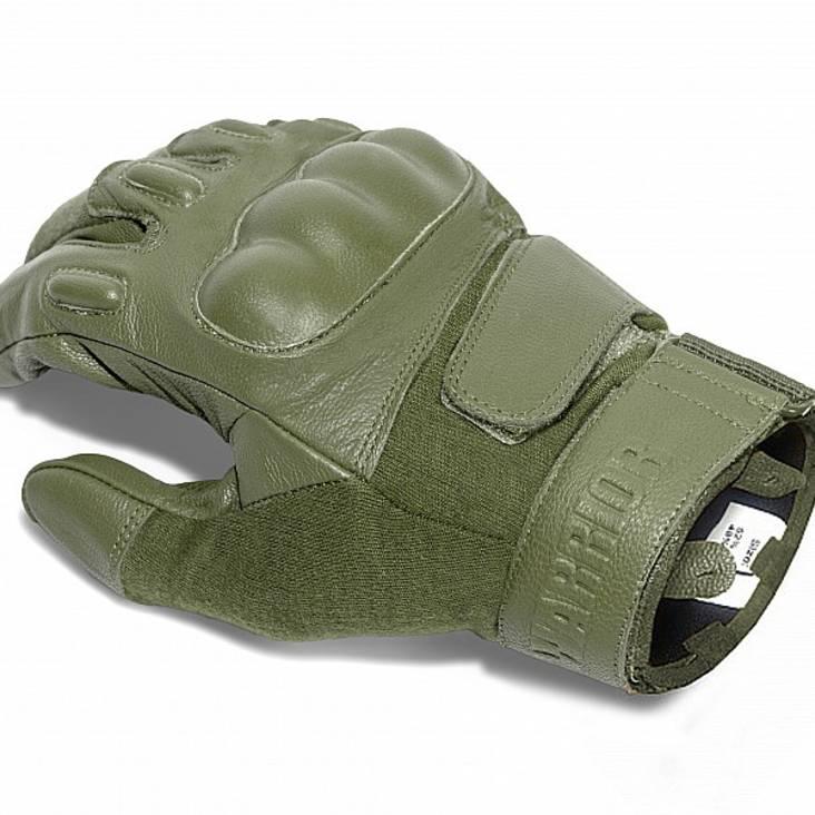 Warrior Firestorm Hard Knuckle Glove Olive Drab