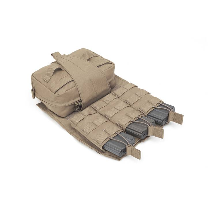 Warrior Back Panel with MED Pouch and Triple M4 5.56 Coyote Tan