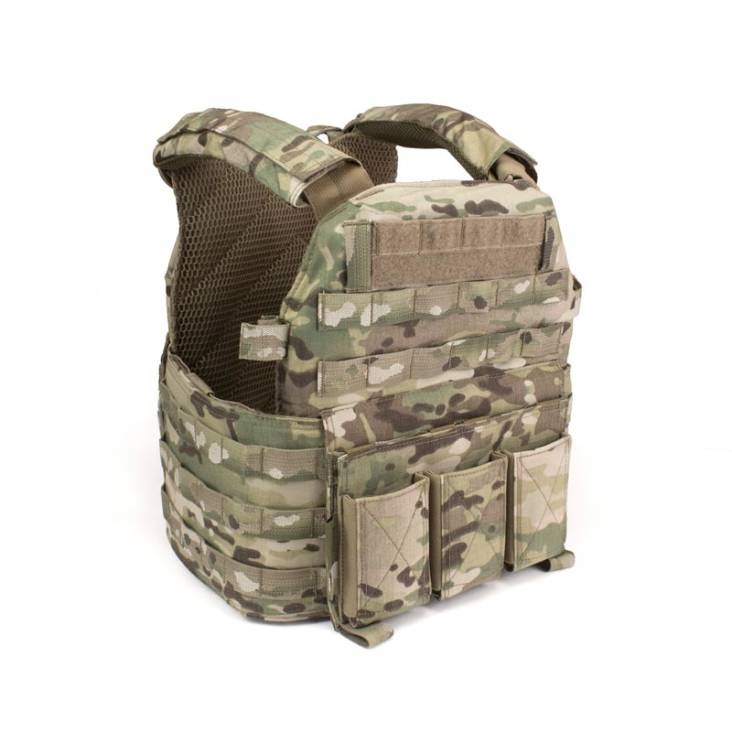 Warrior Elite Ops DCS Plate Carrier with Triple Elastic Mag Pouch MultiCam