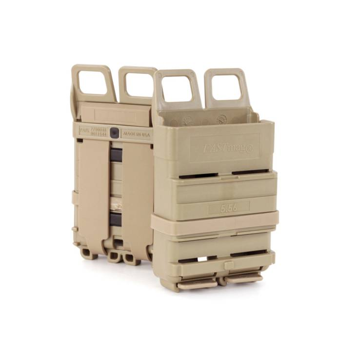 ITW FastMag 5.56mm Magazine Pouch Gen 4 For MOLLE Rig Attachment Tan