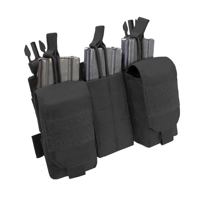 Warrior Detachable Front Panel MK1 (3 x 5.56 Mag Pouches and 2 Utility Pouches) Black