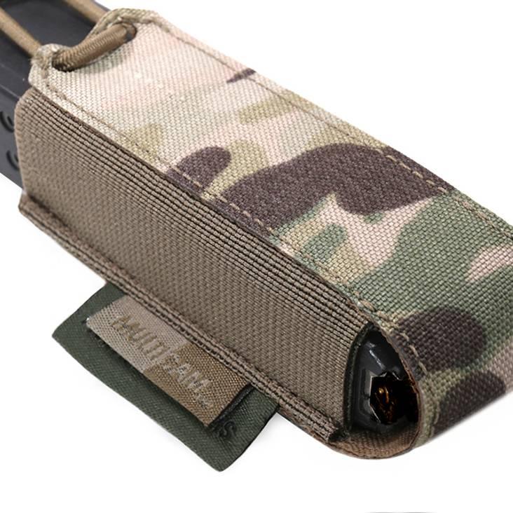 Warrior Laser Cut Single Bungee Pistol Pouch MultiCam