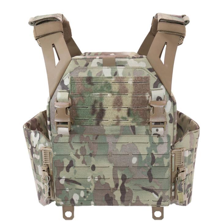 Warrior Laser Cut Low Profile Carrier V1 With Solid Sides MultiCam