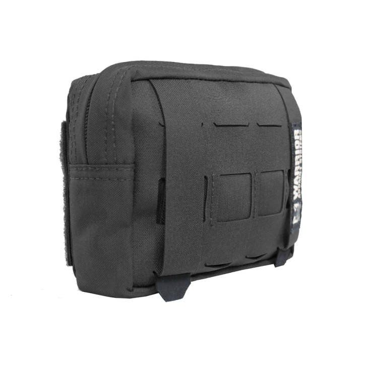 Warrior Laser Cut Small Horizontal Utility Pouch Black