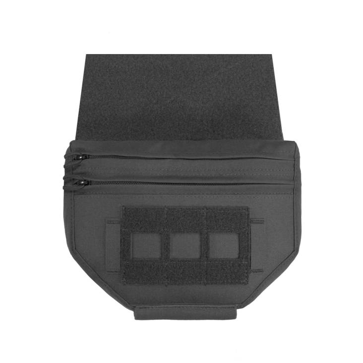 Warrior Laser Cut Drop Down Velcro Pouch Black