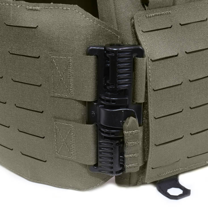 Warrior Laser Cut Low Profile Carrier V1 With Triple Bungee 5.56 Ranger Green