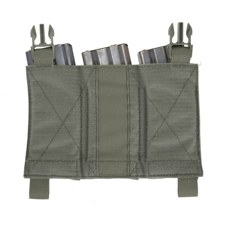 Warrior Removable Triple Elastic Mag Pouch Ranger Green