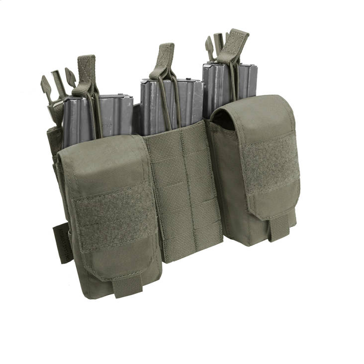 Warrior Detachable Front Panel MK1 (3 x 5.56 Mag Pouches and 2 Utility Pouches) Ranger Green