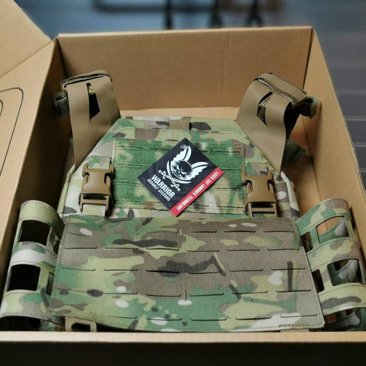 Warrior Laser Cut Low Profile Carrier V2 With ladder Sides MultiCam