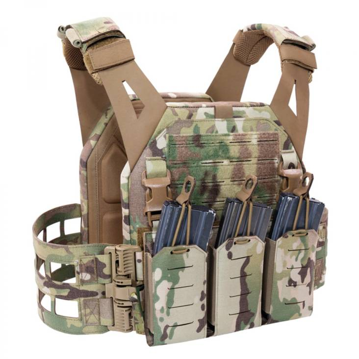 Warrior Laser Cut Low Profile Carrier V2 With Triple Bungee 5.56 MultiCam