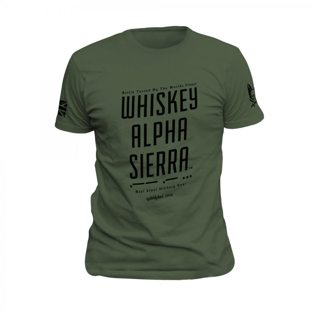 Whiskey Alpha Sierra T-Shirt OD Green
