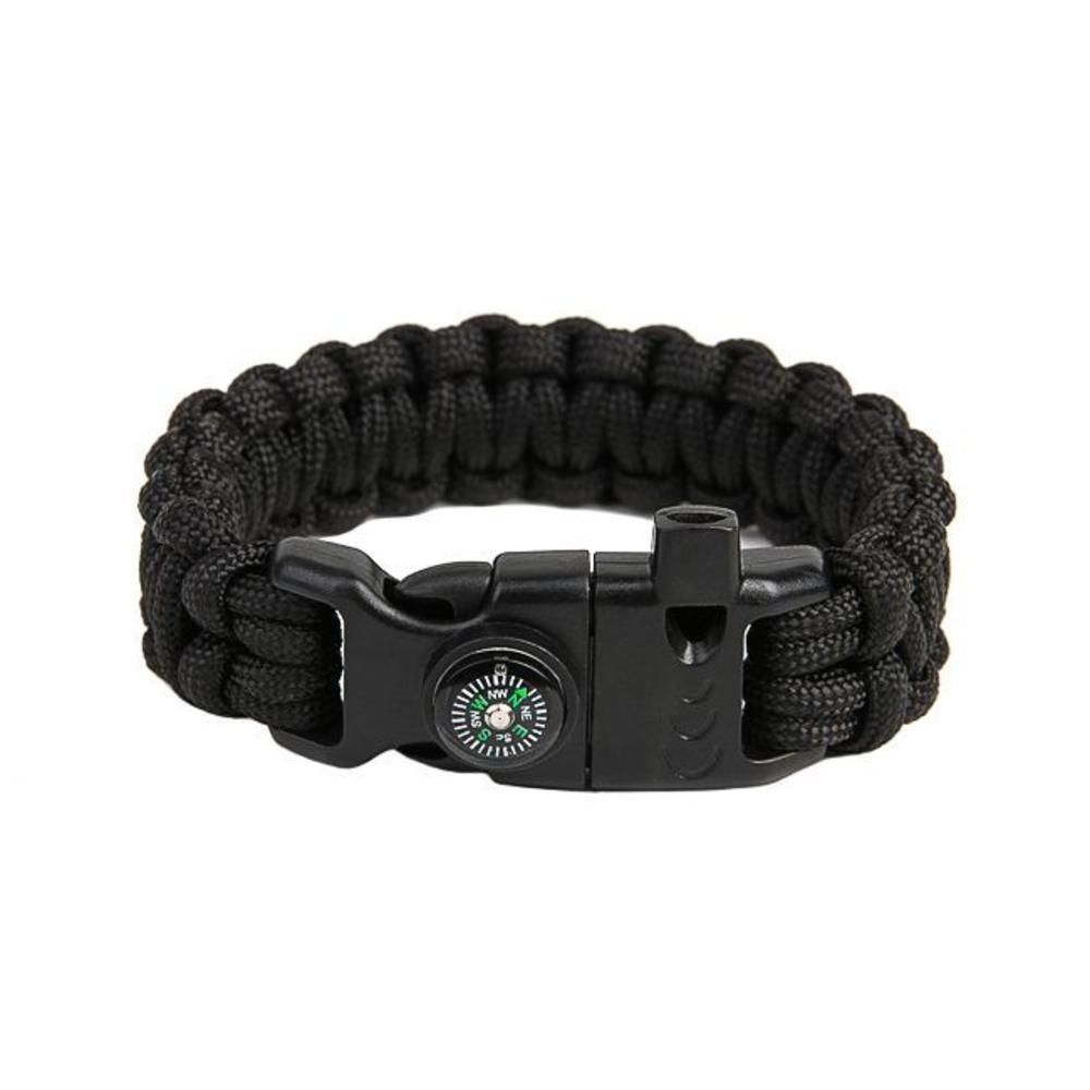 Survival Paracord Bracelet Cobra Black