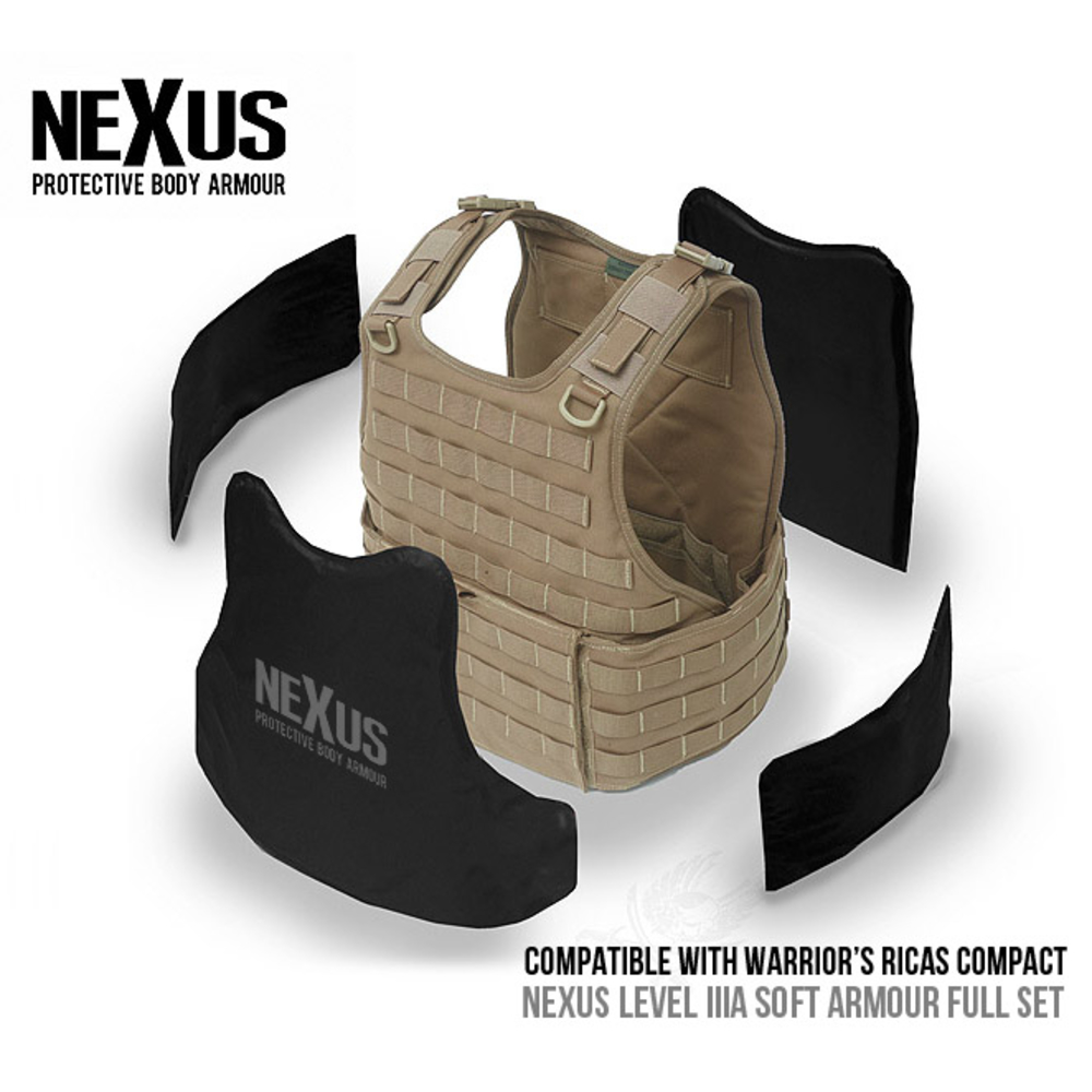 Nexus RICAS Compact Level IIIa Soft Armour Front, Back & Sides