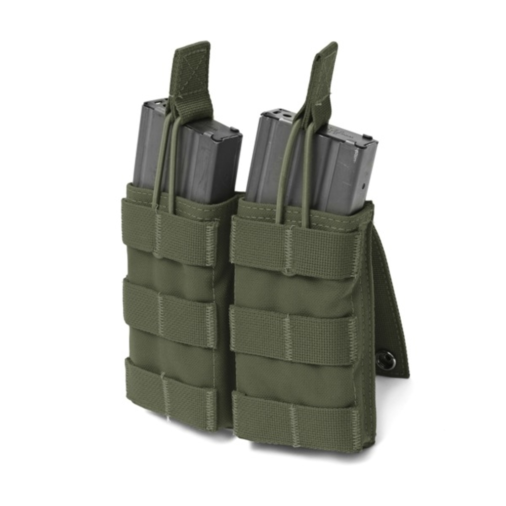 Warrior Double 5.56mm Open Mag Pouch Olive Drab