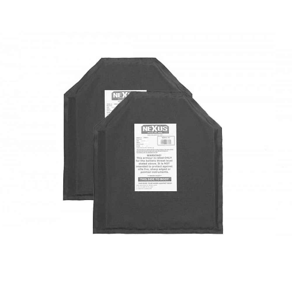 """Nexus Level 3a 10"""" x 12"""" Soft Armour Inserts Plate Backers Set Of 2"""