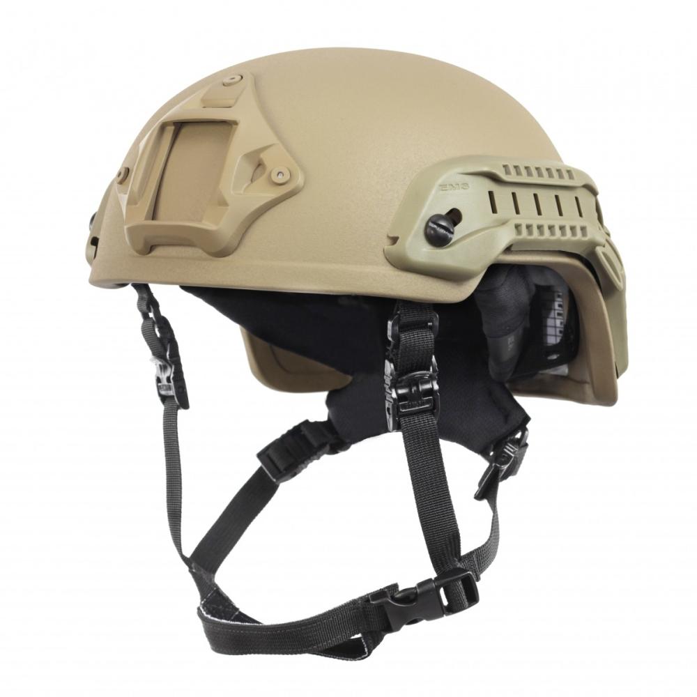 Nexus SF M3 Helmet with Rails, NVG Shroud, BOA Dialler Tan, Size Large
