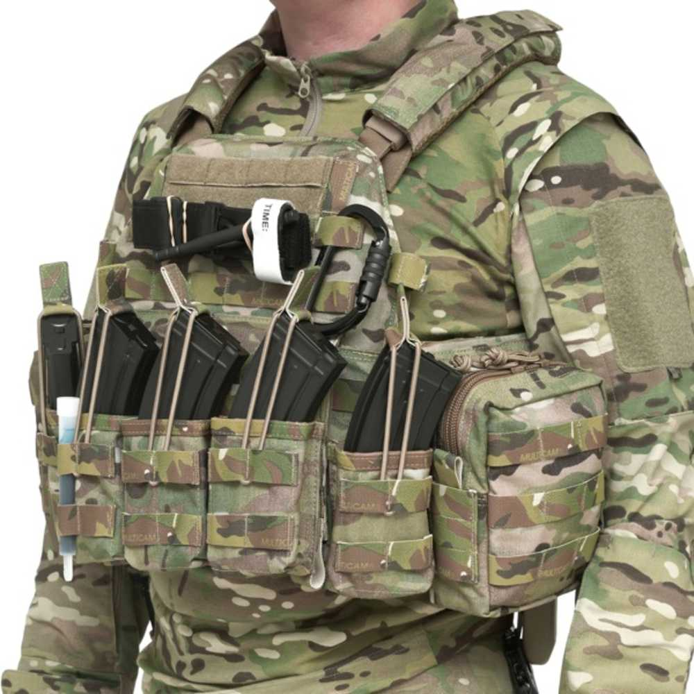 Genuine British Military Police Black Hawk Tactical Triple Mag Pouch Assault