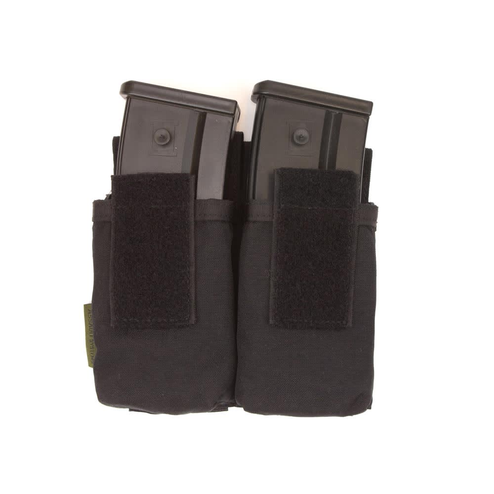 Warrior Double G36 Covered Mag Pouch Black