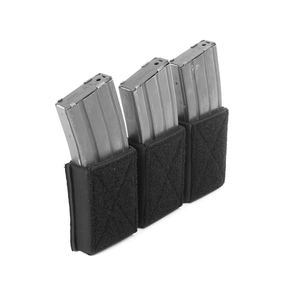 Warrior Triple Velcro Mag Pouch for 5.56mm Mags. For use with W-EO-CPC Black